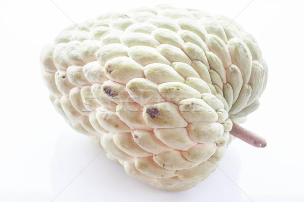 カスタード リンゴ 孤立した 白 フルーツ 背景 ストックフォト © punsayaporn