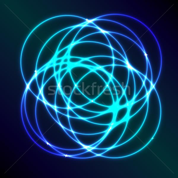 Stockfoto: Abstract · Blauw · plasma · cirkel · effect · licht