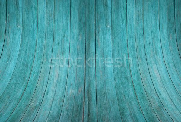 Azul madera pared curva textura stock Foto stock © punsayaporn