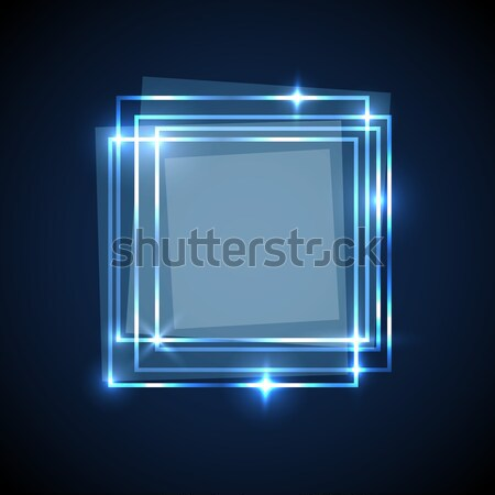 Abstract background with pink squares banner Stock photo © punsayaporn