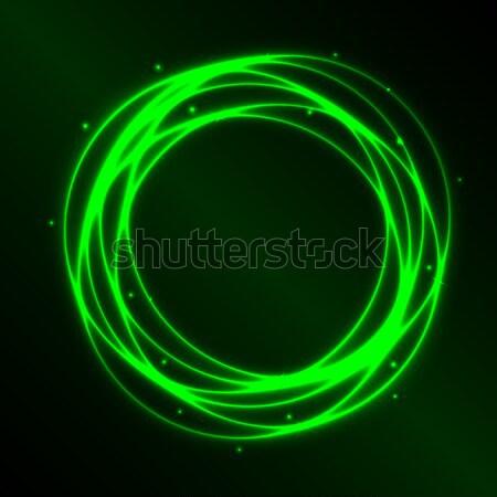 Résumé vert plasma cercle effet lumière Photo stock © punsayaporn