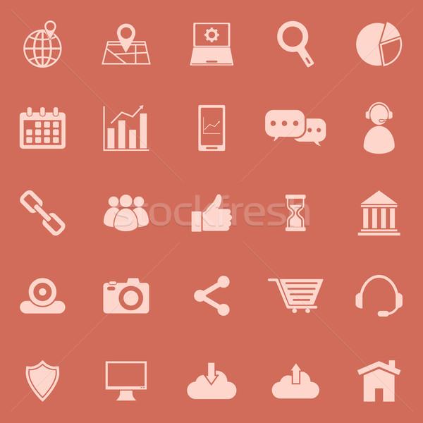 SEO color icons on orange background Stock photo © punsayaporn