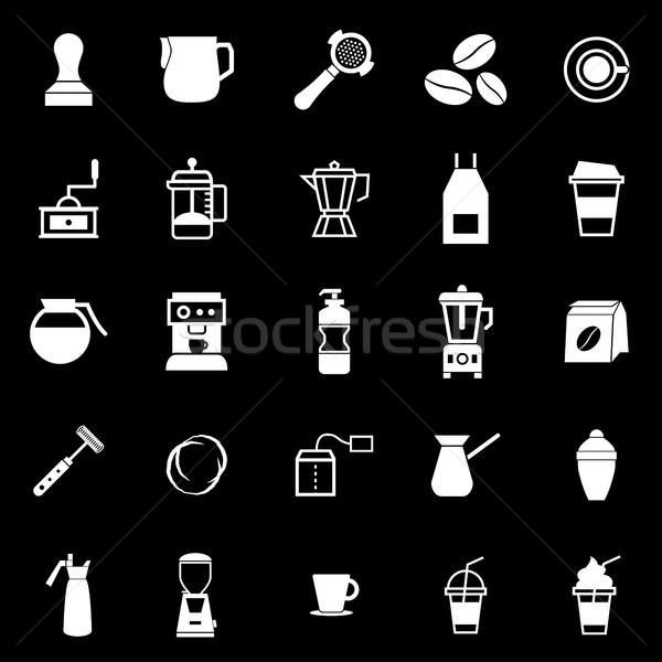 Barista icon zwarte voorraad vector winkel Stockfoto © punsayaporn