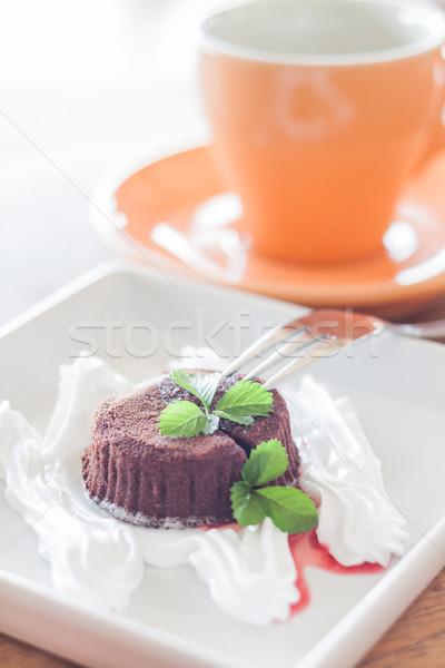Chocolate lava with coffee cup Stock photo © punsayaporn