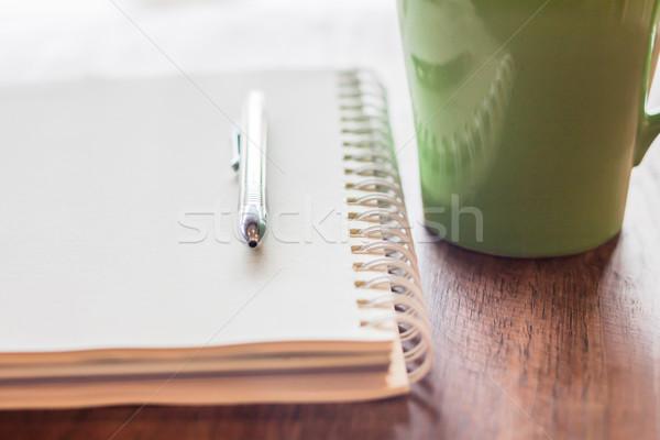 érzés magányos kávéház stock fotó üzlet Stock fotó © punsayaporn