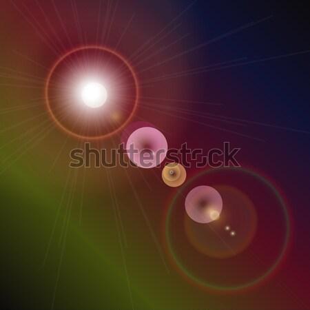 Fény fellobbanás különleges hatás terv tudomány Stock fotó © punsayaporn