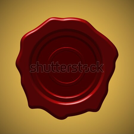 Red wax seal on gold gradient background Stock photo © punsayaporn