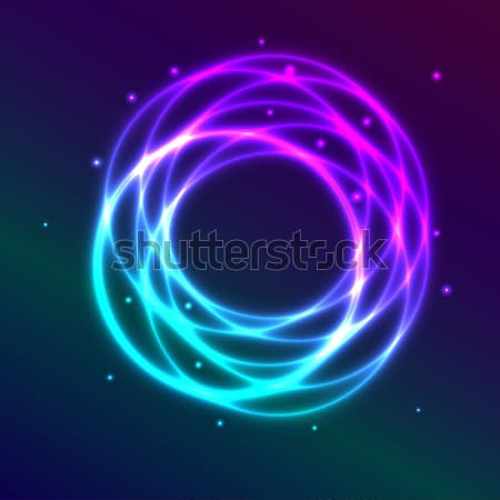 Abstract background with blue-purple shadingl plasma circle effe Stock photo © punsayaporn