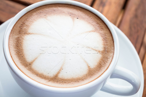 Hot cafe mocha cup with milk microfoam Stock photo © punsayaporn