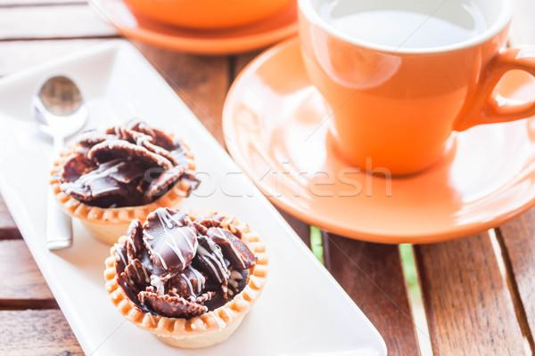 Caldo tè croccante cioccolato stock foto Foto d'archivio © punsayaporn