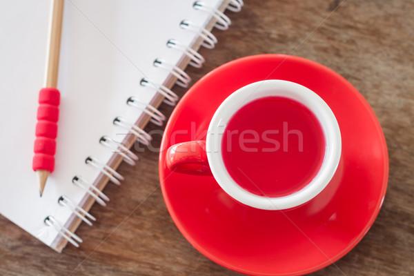 Rouge mug ouvrir portable stock photo Photo stock © punsayaporn
