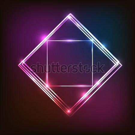 抽象的な カラフル ネオン 正方形 在庫 ベクトル ストックフォト © punsayaporn