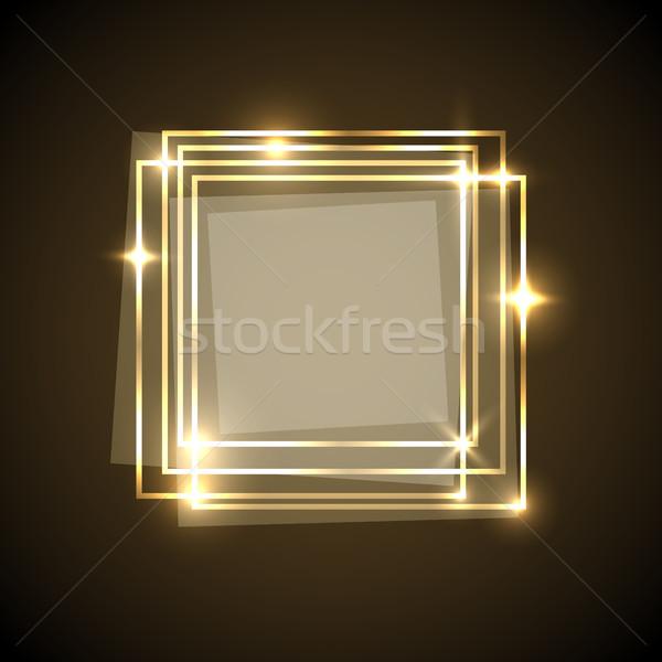 抽象的な 金 正方形 バナー 在庫 ベクトル ストックフォト © punsayaporn