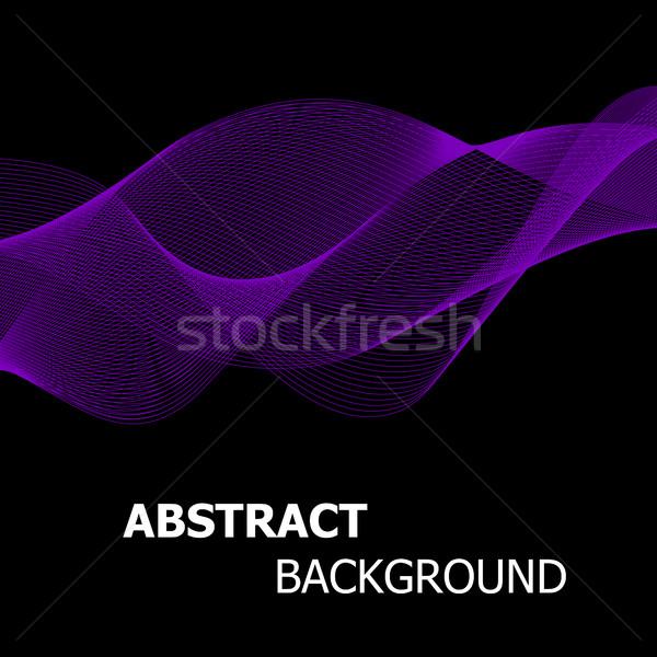 Abstrato roxo linha onda estoque vetor Foto stock © punsayaporn