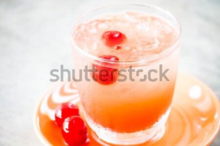 Soğuk taze meyve suyu kırmızı kiraz Stok fotoğraf © punsayaporn