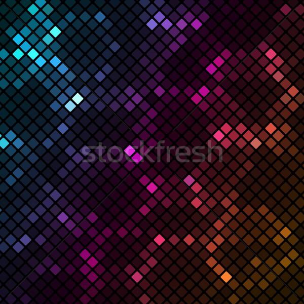 Mozaiek kleurrijk textuur abstract zwarte behang Stockfoto © punsayaporn