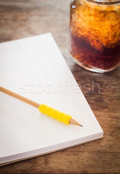 Photo stock: Crayon · ouvrir · portable · verre · Cola