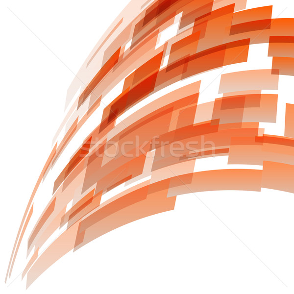 Abstract oranje technologie voorraad vector business Stockfoto © punsayaporn