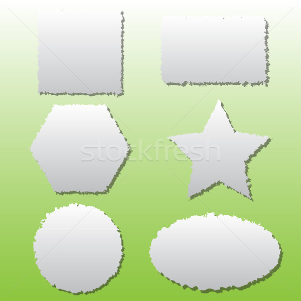 Collection of different shape paper tears Stock photo © punsayaporn