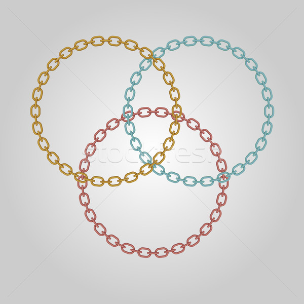Triple ring chains with gold, silver and bronze Stock photo © punsayaporn