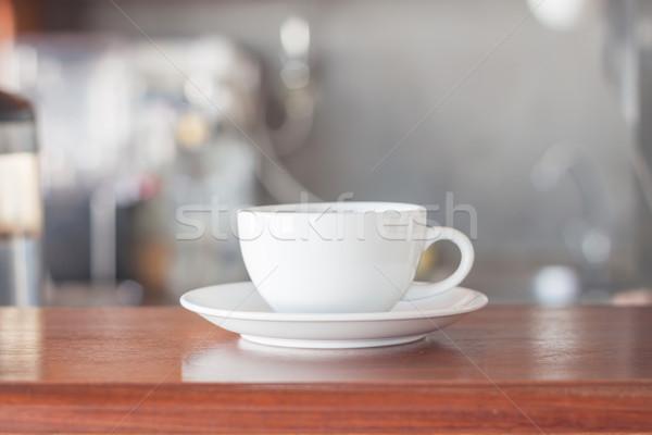 Fehér kávéscsésze kávéház stock fotó háttér Stock fotó © punsayaporn