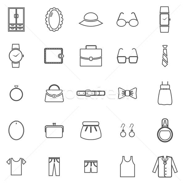 Aderezo línea iconos blanco stock vector Foto stock © punsayaporn