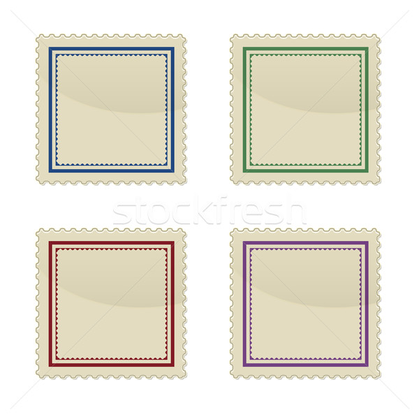 Set of stamp, square shape Stock photo © punsayaporn