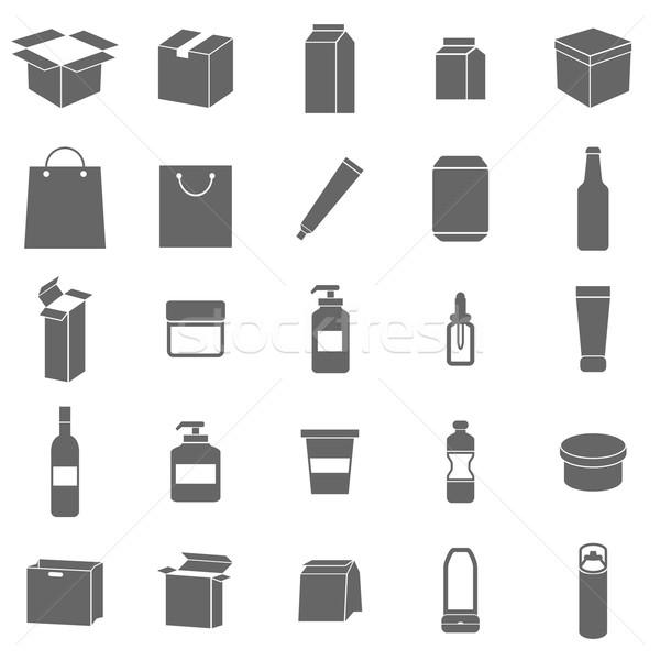 Imballaggio icone bianco stock vettore acqua Foto d'archivio © punsayaporn
