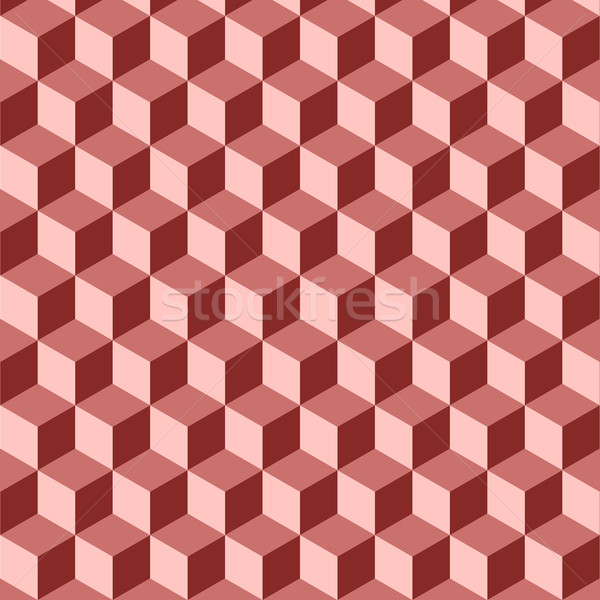 Abstract isometric red cube pattern background Stock photo © punsayaporn