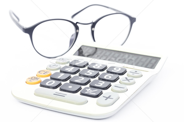 Calculadora aislado blanco stock foto Foto stock © punsayaporn