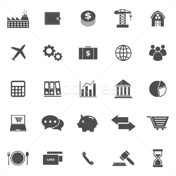 Gospodarki ikona biały czas wektora ceny Zdjęcia stock © punsayaporn
