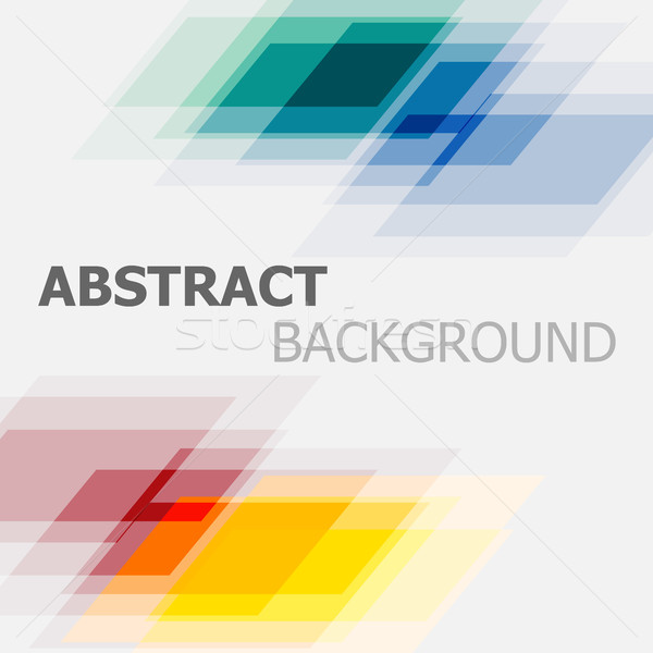 Abstract colourful geometric overlapping background Stock photo © punsayaporn