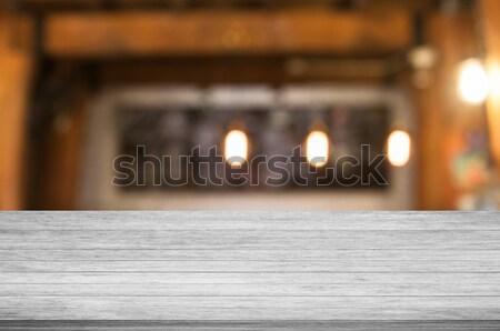 Concrete table top with coffee shop Stock photo © punsayaporn