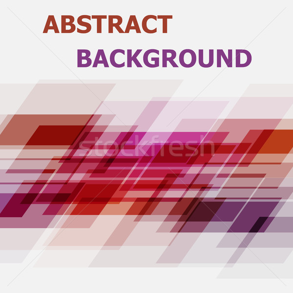 Abstract pink and orange geometric overlapping background Stock photo © punsayaporn
