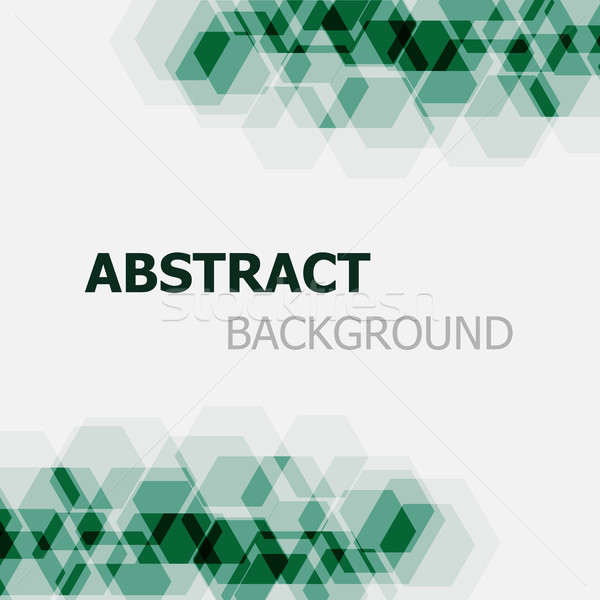 Abstract dark green hexagon overlapping background Stock photo © punsayaporn