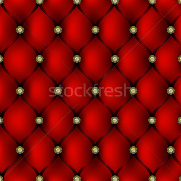 Red leather upholstery with gold button pattern background Stock photo © punsayaporn