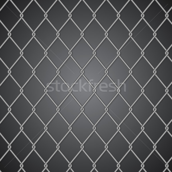 Metal fence on dark background Stock photo © punsayaporn