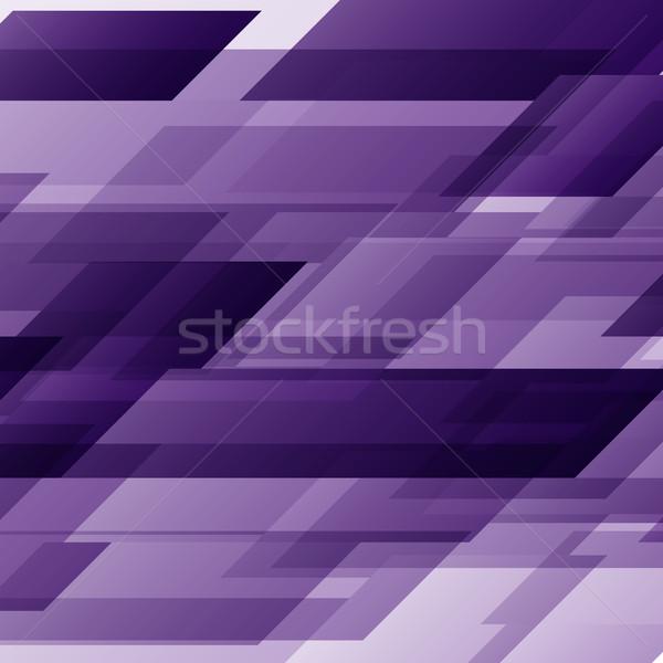 Abstract paars technologie vervormd voorraad vector Stockfoto © punsayaporn