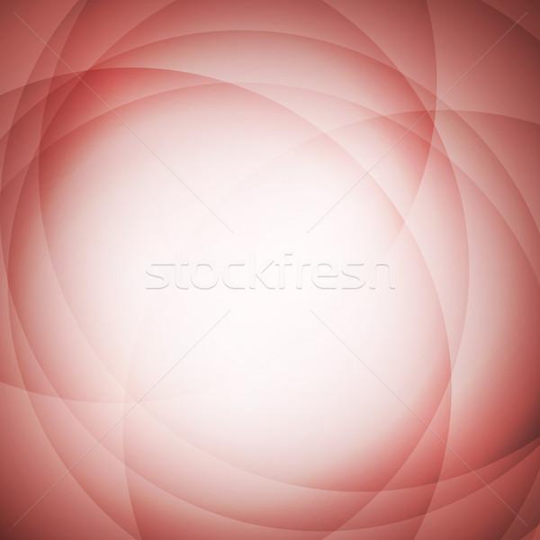 Absztrakt piros kör stock vektor terv Stock fotó © punsayaporn
