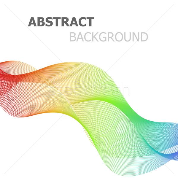 аннотация красочный линия волна белый складе Сток-фото © punsayaporn