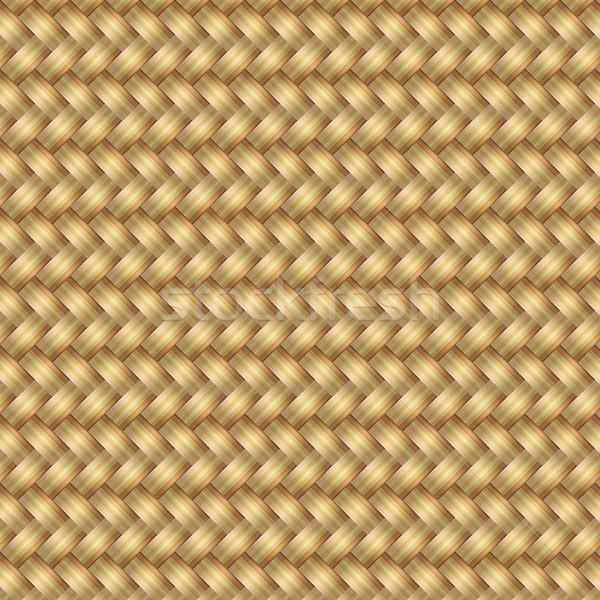 Streszczenie wygenerowany wiklina wzór bezszwowy charakter Zdjęcia stock © punsayaporn