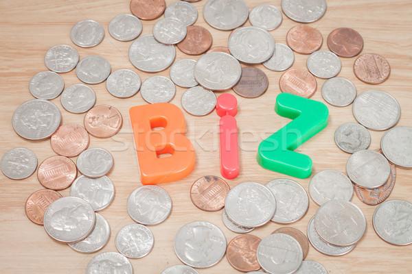 Biz alphabet with various US coins Stock photo © punsayaporn