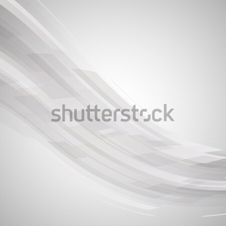 Abstract black and white wave technology background Stock photo © punsayaporn