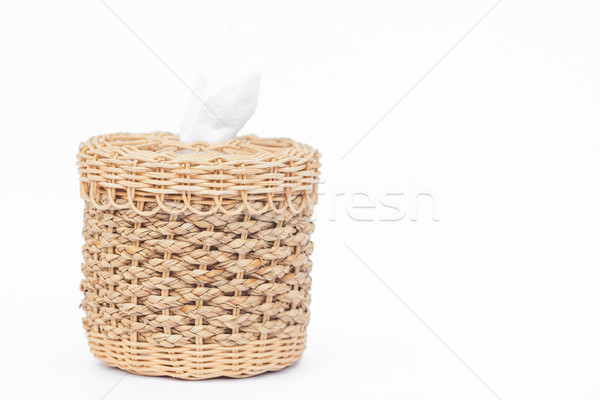 Craft weave tissue paper box Stock photo © punsayaporn