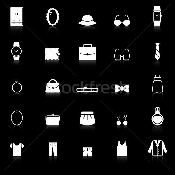 Pansuman simgeler siyah stok vektör takım elbise Stok fotoğraf © punsayaporn