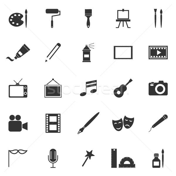 Art icons on white background Stock photo © punsayaporn