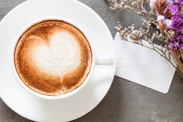 コーヒーカップ 名前 カード グレー 在庫 写真 ストックフォト © punsayaporn
