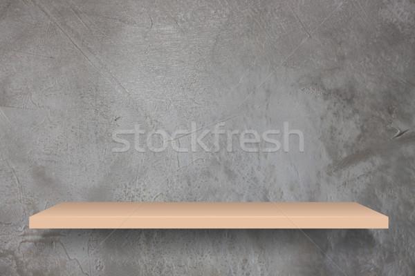 üres polc klasszikus beton fal stock Stock fotó © punsayaporn