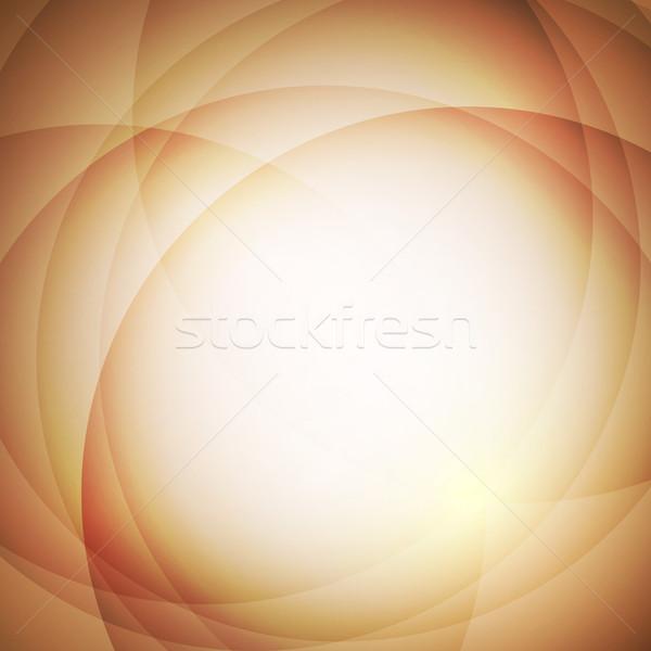 ストックフォト: 抽象的な · オレンジ · サークル · 在庫 · ベクトル · デザイン