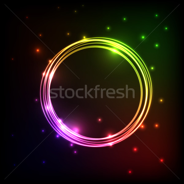 Abstract plasma background with colorful circles Stock photo © punsayaporn